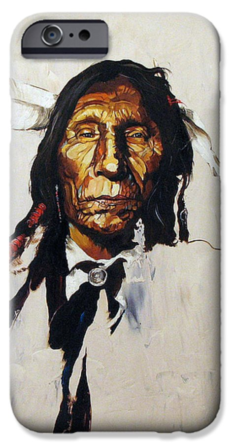 Southwest Art IPhone 6 Case featuring the painting Remember by J W Baker