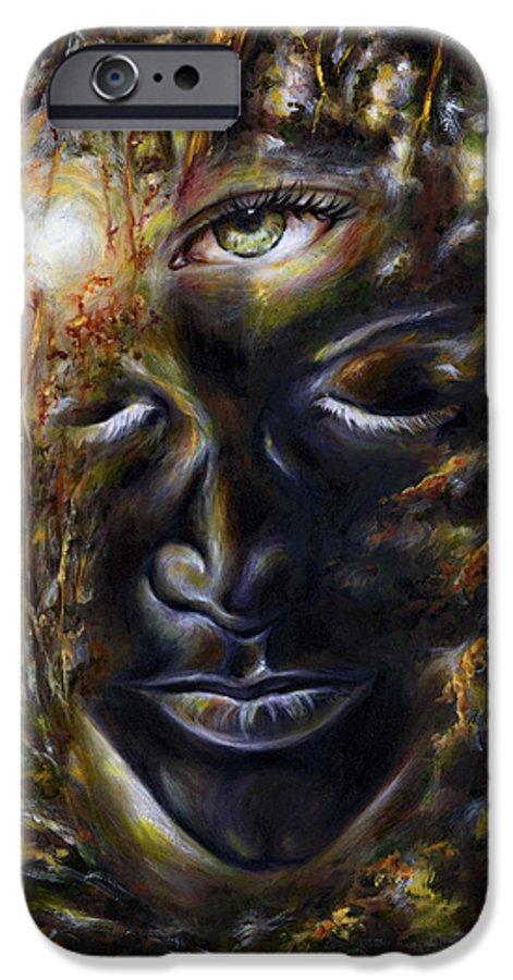 Eye IPhone 6 Case featuring the painting Revelation by Hiroko Sakai