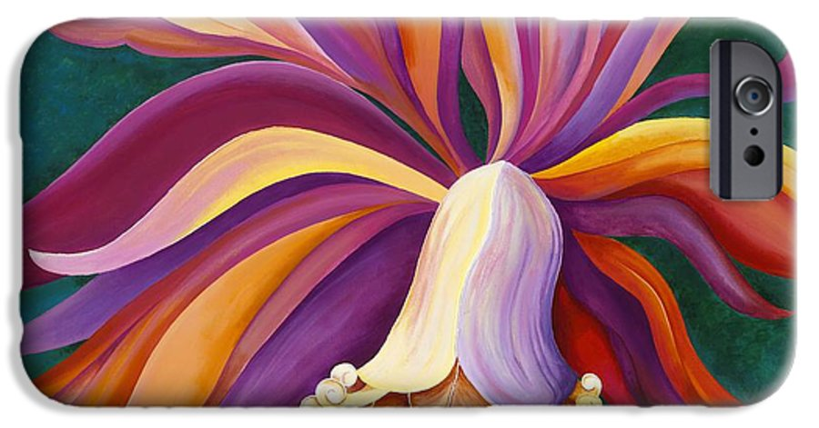 Orchid IPhone 6 Case featuring the painting Ribbon Orchid by Carol Sabo
