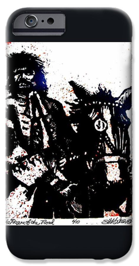 English Highwayman IPhone 6 Case featuring the mixed media Rogue Of The Road by Seth Weaver