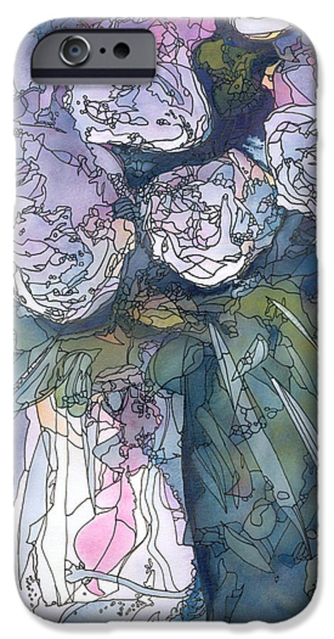 Roses IPhone 6 Case featuring the painting Roses In A Vase by Christina Rahm Galanis