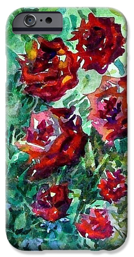 Rose IPhone 6 Case featuring the painting Roses by Mindy Newman