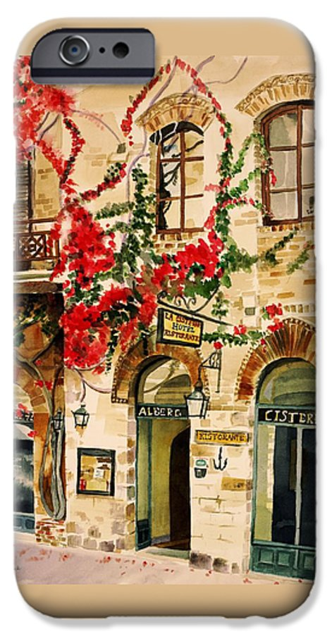 Award-winning IPhone 6 Case featuring the painting San Gimignano by Judy Swerlick