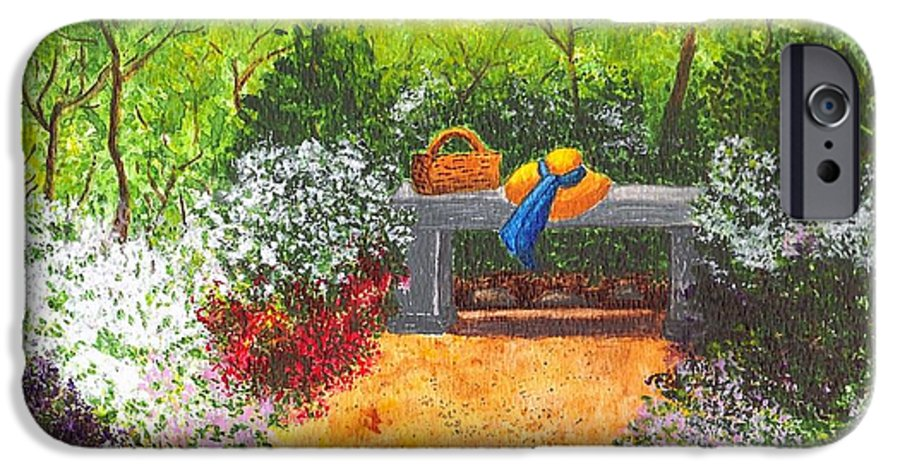 Garden Painting IPhone 6 Case featuring the painting Sanctuary by Patricia Griffin Brett