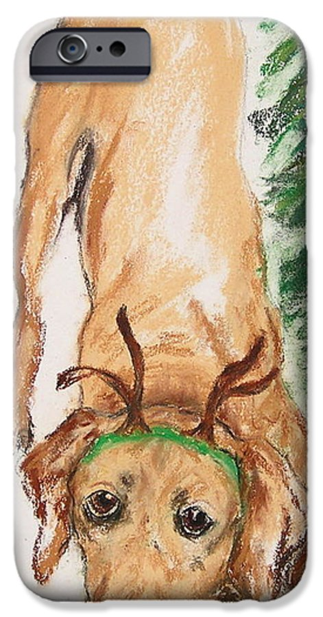 Labrador IPhone 6 Case featuring the drawing Santa's Helper by Cori Solomon
