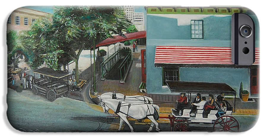 IPhone 6 Case featuring the painting Savannah City Market by Jude Darrien