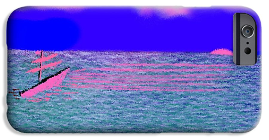 Early Evening IPhone 6 Case featuring the digital art Sea.sun by Dr Loifer Vladimir