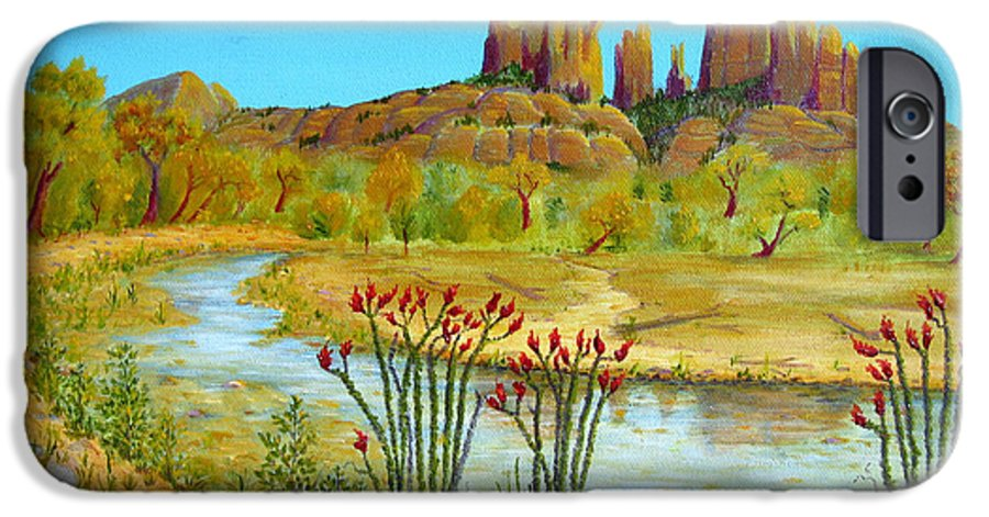 Sedona IPhone 6 Case featuring the painting Sedona Arizona by Jerome Stumphauzer