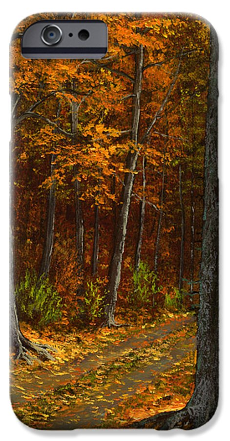 Landscape IPhone 6 Case featuring the painting Seldom Used by Frank Wilson