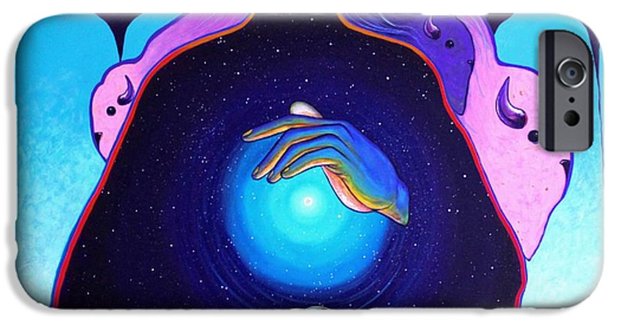 Spiritual IPhone 6 Case featuring the painting She Carries The Spirit by Joe Triano
