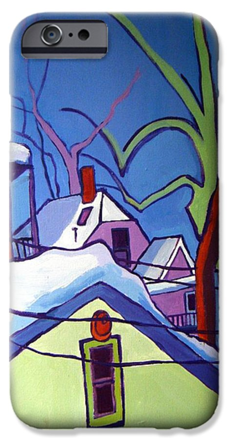 Buildings IPhone 6 Case featuring the painting Sheffield Winter by Debra Bretton Robinson