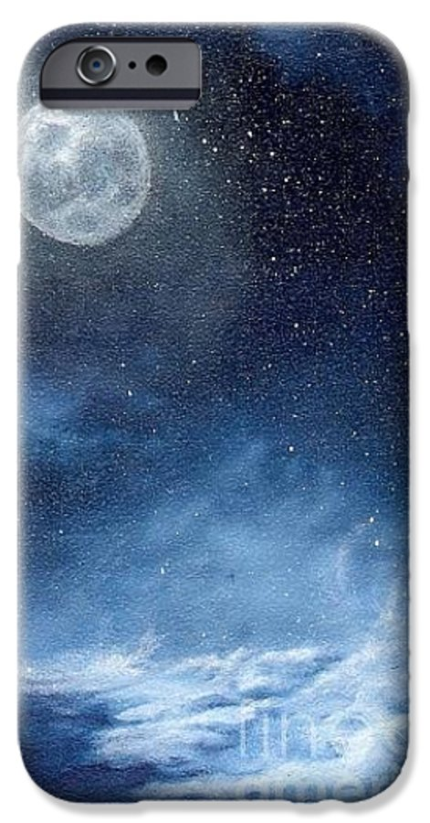 Cosmos IPhone 6 Case featuring the painting Shimmer by Murphy Elliott