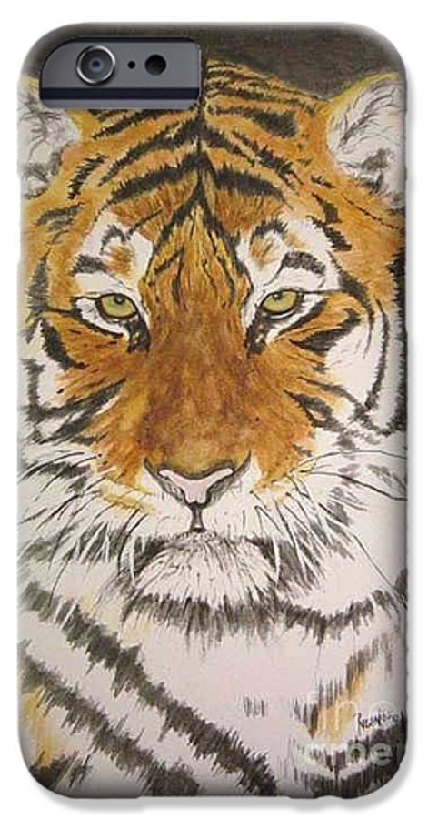 Siberian Tiger IPhone 6 Case featuring the painting Siberian Tiger by Regan J Smith