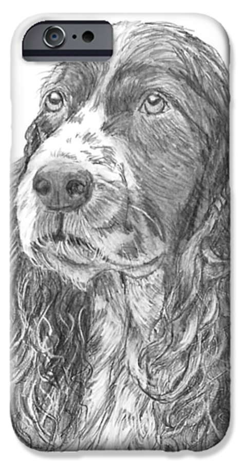 Dog IPhone 6 Case featuring the drawing Sibley by Quwatha Valentine