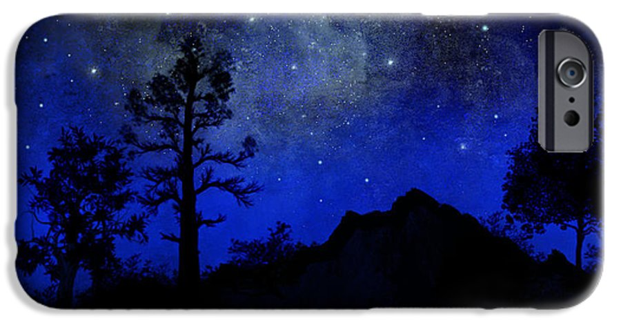 Sierra Silhouette IPhone 6 Case featuring the painting Sierra Silhouette Wall Mural by Frank Wilson