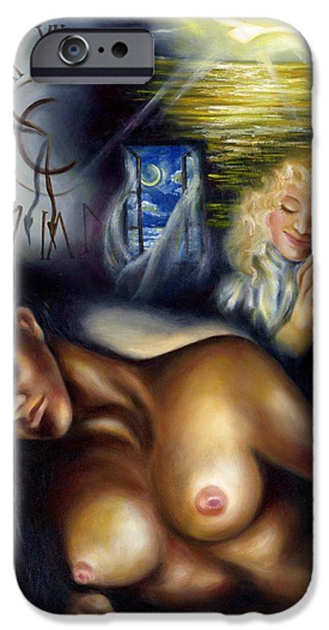 Siesta IPhone 6 Case featuring the painting Siesta by Hiroko Sakai