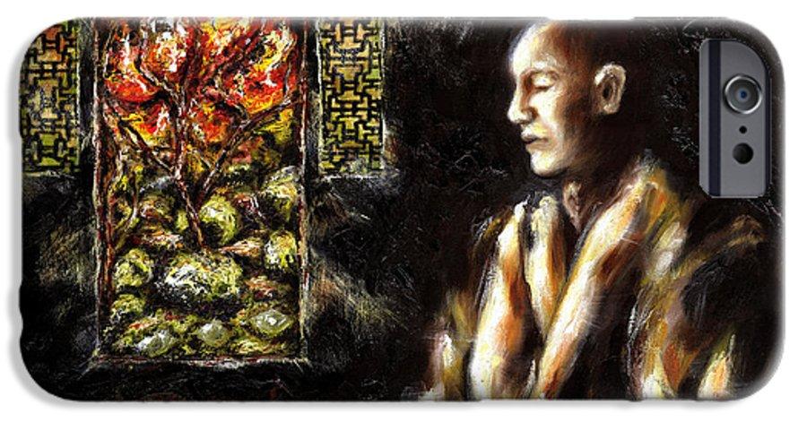 Zen IPhone 6 Case featuring the painting Silence by Hiroko Sakai