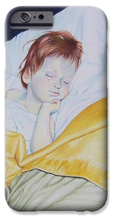 Baby IPhone 6 Case featuring the mixed media Sleeping Beauty by Constance Drescher