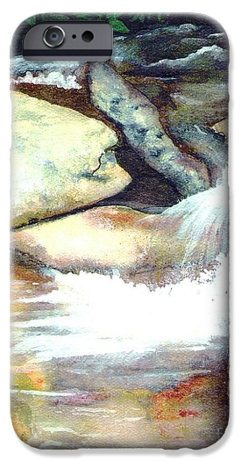 Fine Art IPhone 6 Case featuring the painting Smoky Mountains Waterfall by Patricia Griffin Brett