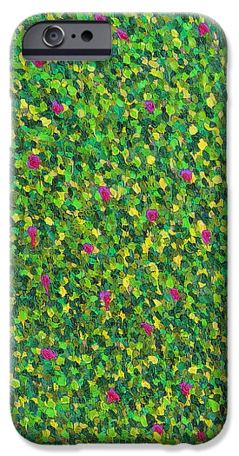 Abstract IPhone 6 Case featuring the painting Soft Green With Pink by Dean Triolo