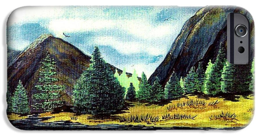 Fine Art IPhone 6 Case featuring the painting Solitude by Patricia Griffin Brett