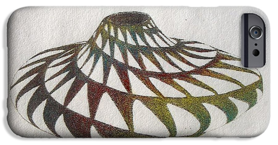 Pottery Southwest Rainbow American Indian Desert IPhone 6 Case featuring the painting Southwest II by Tony Ruggiero
