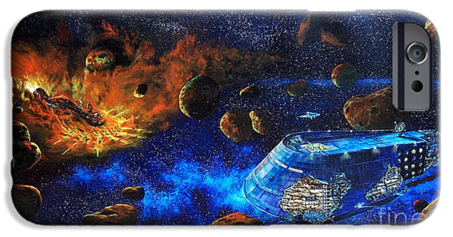 Future IPhone 6 Case featuring the painting Spaceship Titanic by Murphy Elliott