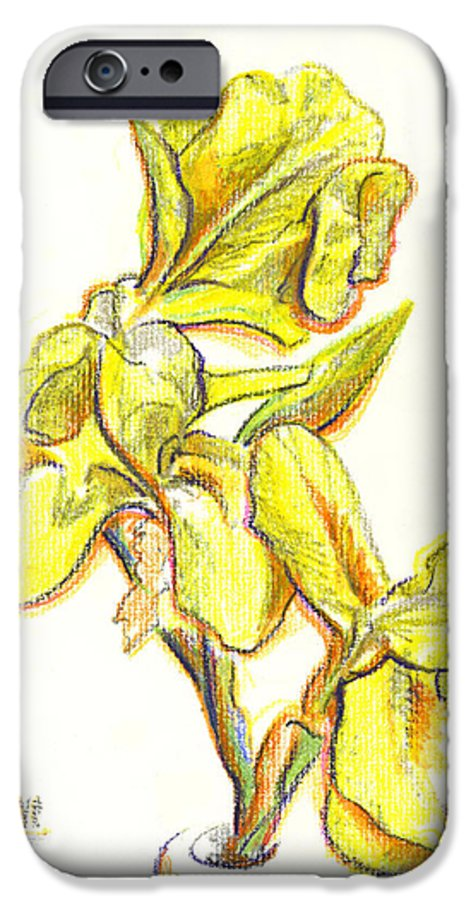 Spanish Irises IPhone 6 Case featuring the painting Spanish Irises by Kip DeVore