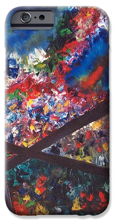 Abstract IPhone 6 Case featuring the painting Spectral Chaos by Micah Guenther