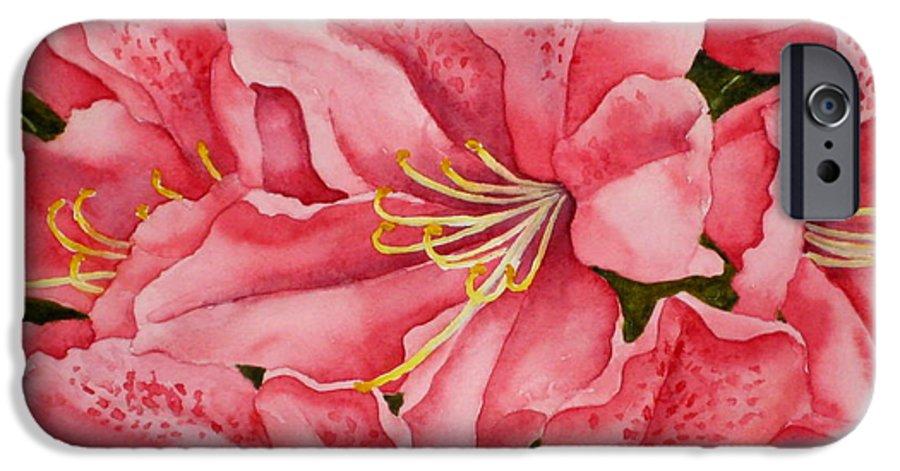 Watercolor IPhone 6 Case featuring the painting Spring Azalea by Darla Brock
