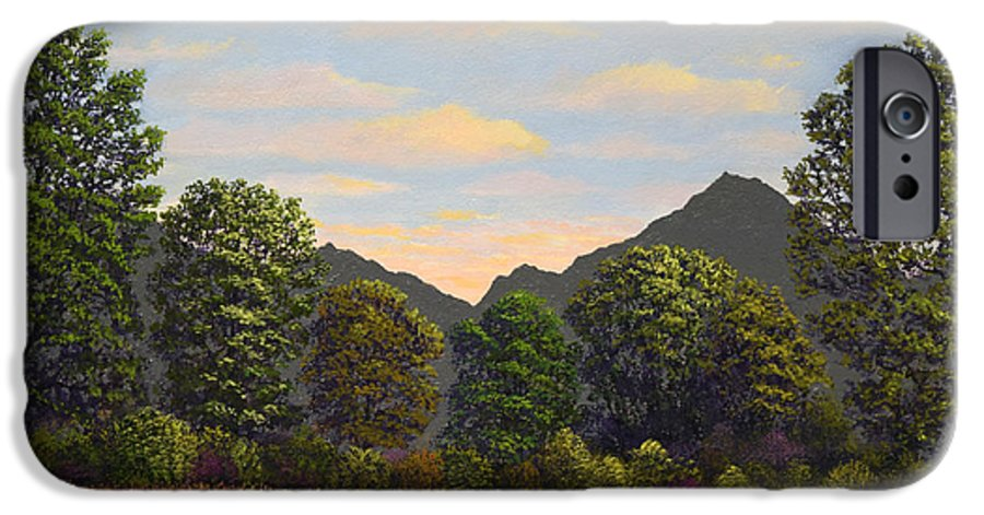 Spring Meadow At Sutter Buttes IPhone 6 Case featuring the painting Spring Meadow At Sutter Buttes by Frank Wilson