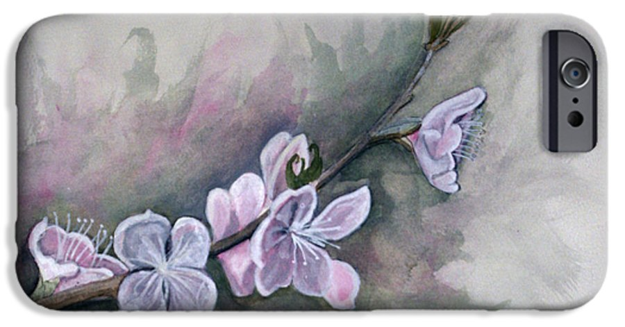 Rick Huotari IPhone 6 Case featuring the painting Spring Splendor by Rick Huotari