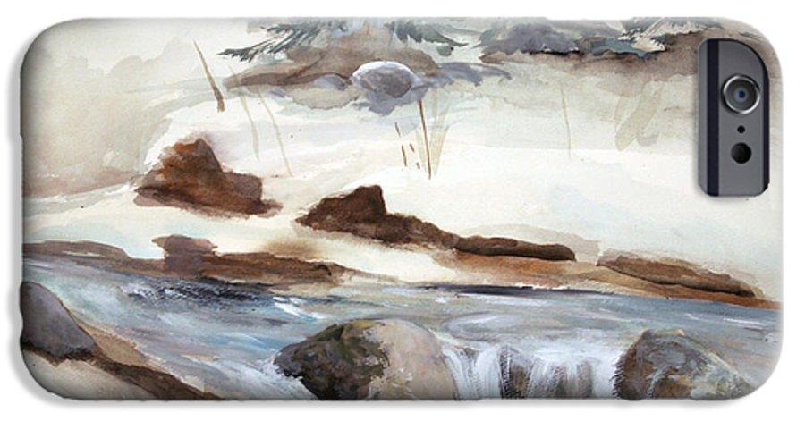 Rick Huotari IPhone 6 Case featuring the painting Springtime by Rick Huotari