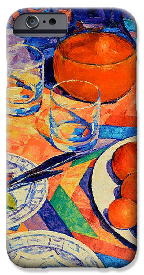 Still Life IPhone 6 Case featuring the painting Still Life 1 by Iliyan Bozhanov