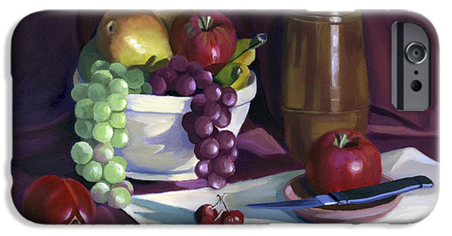 Fine Art IPhone 6 Case featuring the painting Still Life With Apples by Nancy Griswold