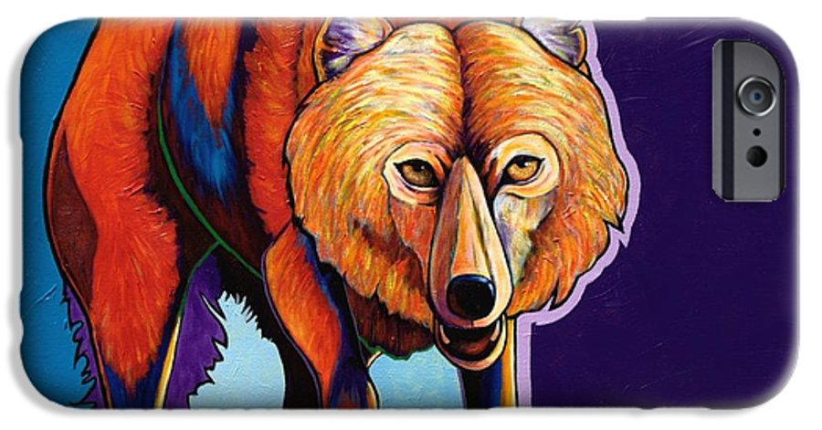 Contemporary IPhone 6 Case featuring the painting Strictly Business - Arctic Wolf by Joe Triano