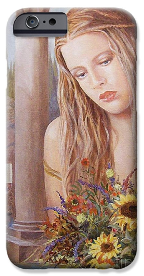 Portrait IPhone 6 Case featuring the painting Summer Day by Sinisa Saratlic