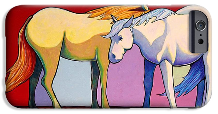 Wildlife IPhone 6 Case featuring the painting Summer Winds - Mustangs by Joe Triano