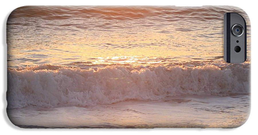 Waves IPhone 6 Case featuring the photograph Sunrise Waves by Nadine Rippelmeyer