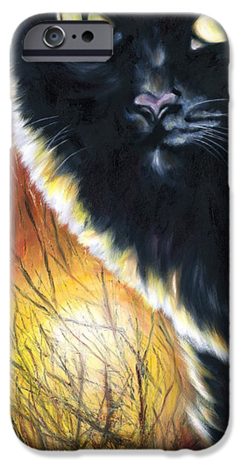 Cat IPhone 6 Case featuring the painting Sunset by Hiroko Sakai