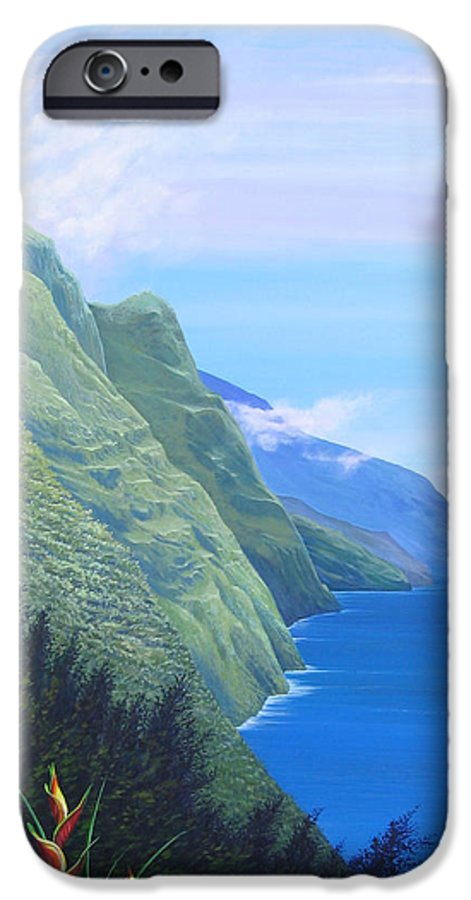 Landscape IPhone 6 Case featuring the painting Sunshine In The Shade by Hunter Jay