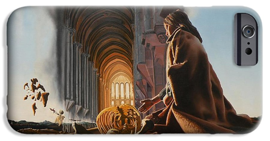Surreal IPhone 6 Case featuring the painting Surreal Cathedral by Dave Martsolf