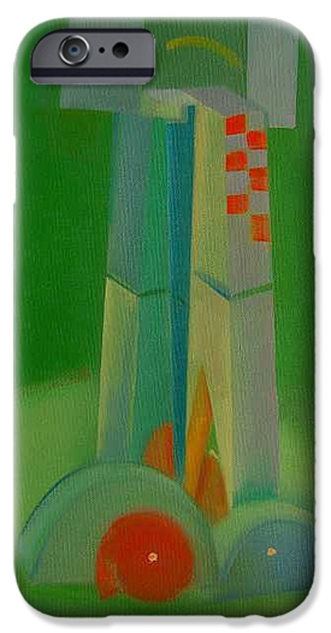 Cubist View Of Figure IPhone 6 Case featuring the painting Survivors by Charles Stuart