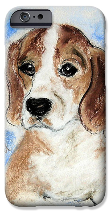 Dog IPhone 6 Case featuring the drawing Sweet Innocence by Cori Solomon