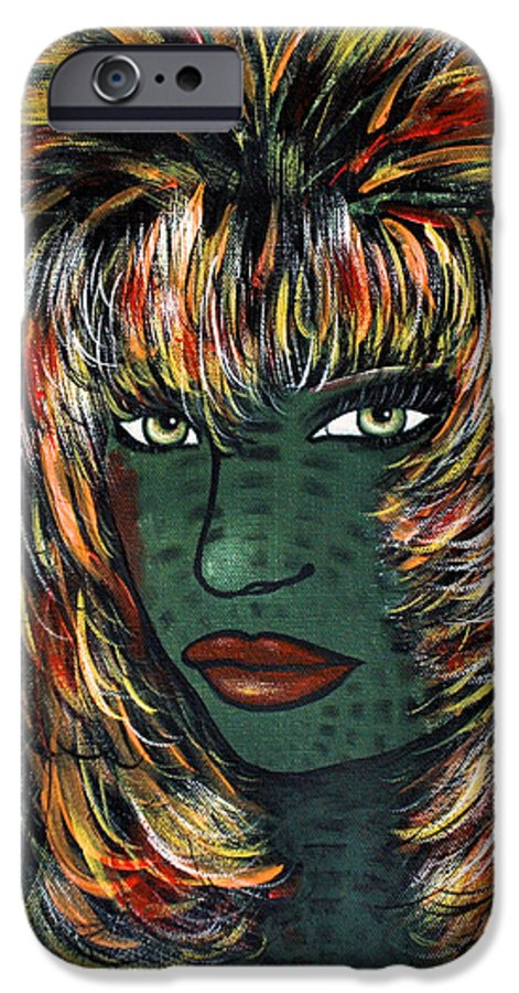 Woman IPhone 6 Case featuring the painting Tattoo by Natalie Holland