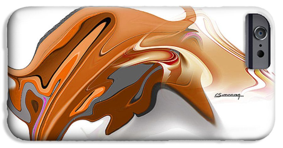 Astrology IPhone 6 Case featuring the digital art Taurus by Christian Simonian