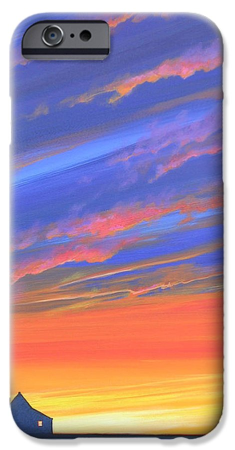 Sunset IPhone 6 Case featuring the painting The Aunt's House by Hunter Jay
