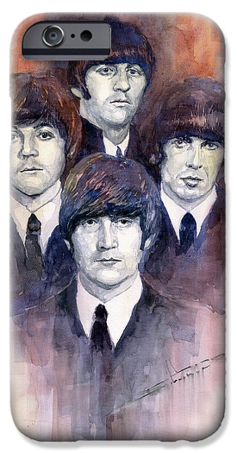 Watercolor IPhone 6 Case featuring the painting The Beatles 02 by Yuriy Shevchuk