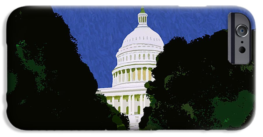 Capitol IPhone 6 Case featuring the painting The Capitol by Pharris Art