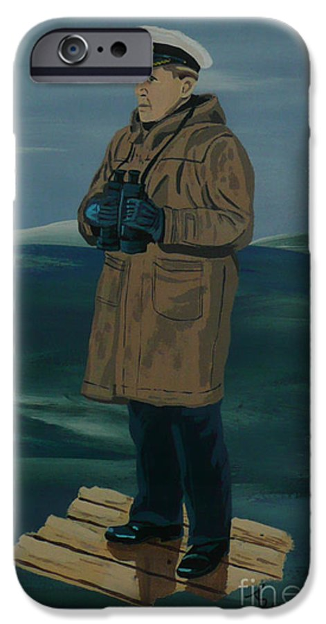 Captain IPhone 6 Case featuring the painting The Captain by Anthony Dunphy